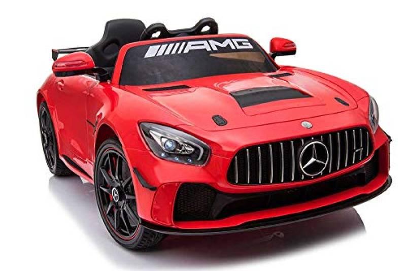 Babycar Mercedes GT4 AMG ( Rossa ) Nuova Versione Macchina Elettrica per Bambini Ufficiale con Licenza 12 Volt Batteria con Telecomando 2.4 GHz Porte Apribili con MP3