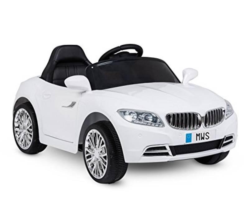 Auto elettrica LT861 per Bambini Crazy Bianca con Porte Automatiche Tre velocità. Media Wave Store ®