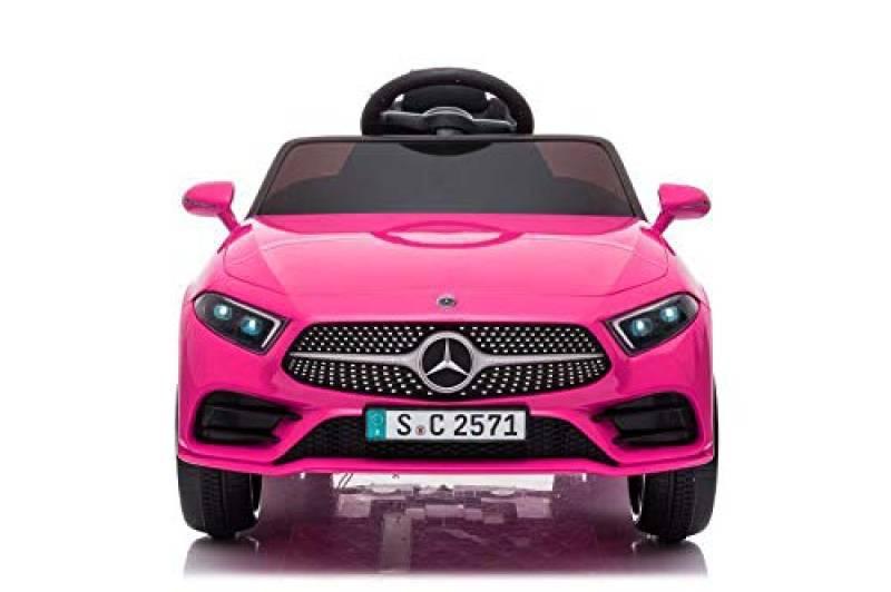 Babycar Mercedes CLS 350 AMG ( Rosa ) Nuova con Sedile in Pelle Macchina Elettrica per Bambini Ufficiale con Licenza 12 Volt Batteria con Telecomando 2.4 GHz Porte Apribili con MP3