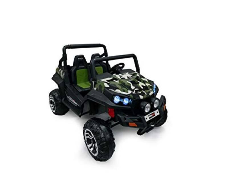 Babycar Polar Auto Elettrica per Bambini 24 Volt ( Military ) Nuova Versione Macchina Elettrica per Bambini 24 Volt Batteria con Telecomando 2.4 GHz con MP3