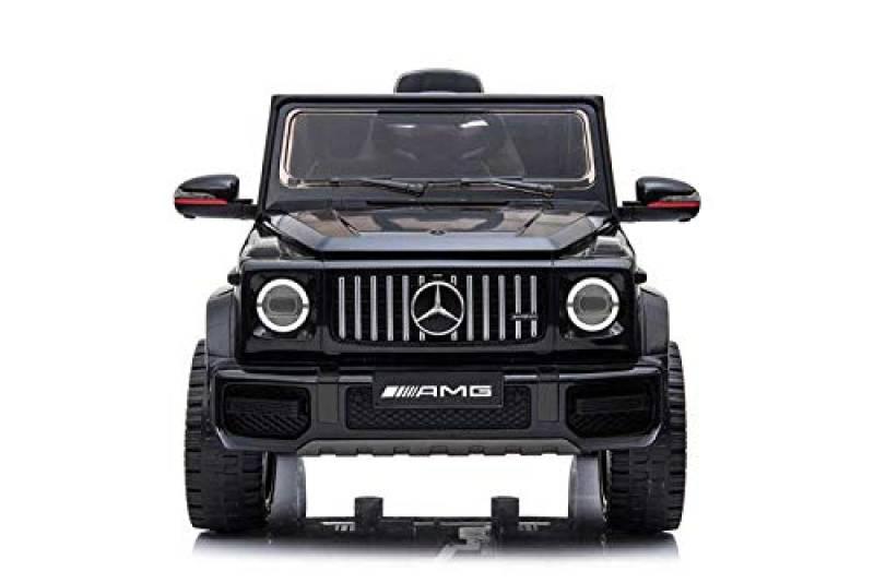Babycar Mercedes G63 AMG ( Nera ) Nuova Versione Macchina Elettrica per Bambini Ufficiale con Licenza 12 Volt Batteria con Telecomando 2.4 GHz Porte Apribili con MP3